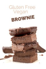 Gluten free vegan brownie | #vegan