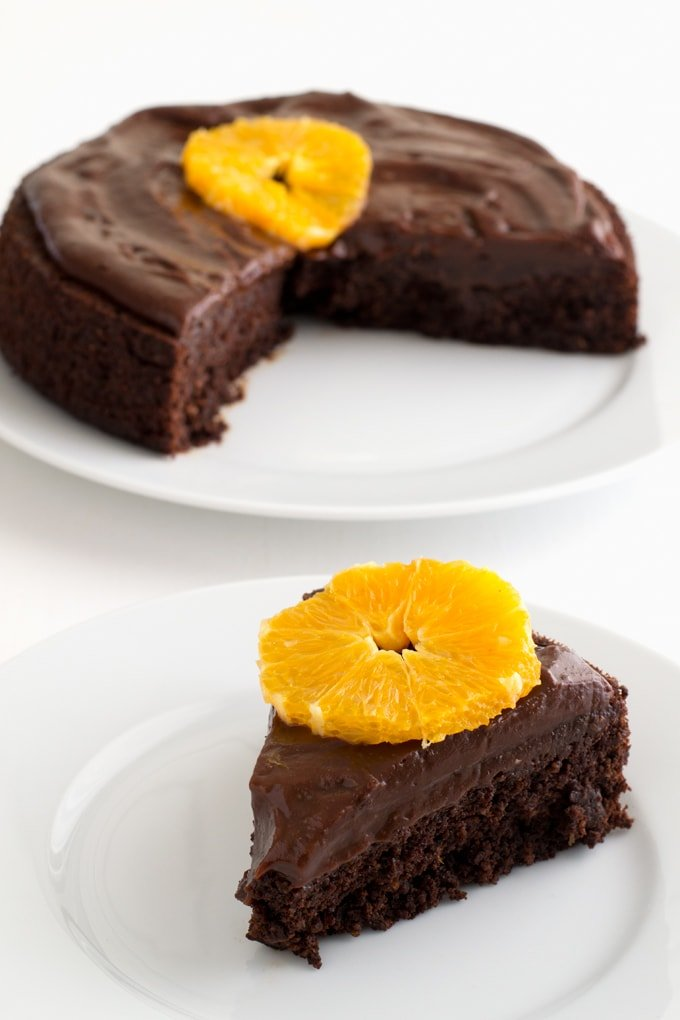 This chocolate cake is inspired in this recipe from Chinmayie at Love ...