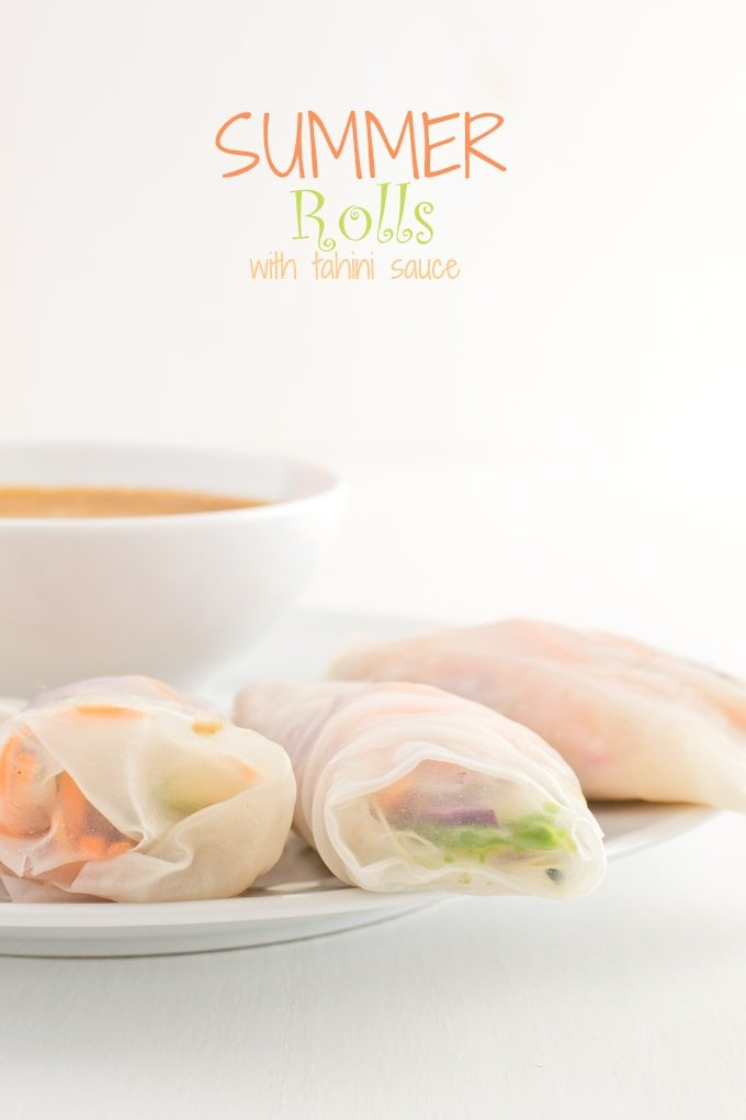 Summer rolls with tahini sauce
