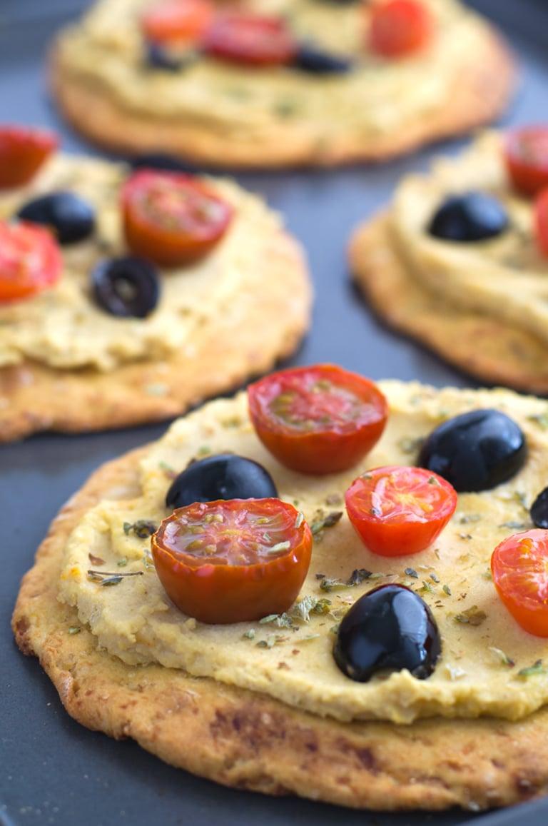 Hummus pizza   #vegan and #gf