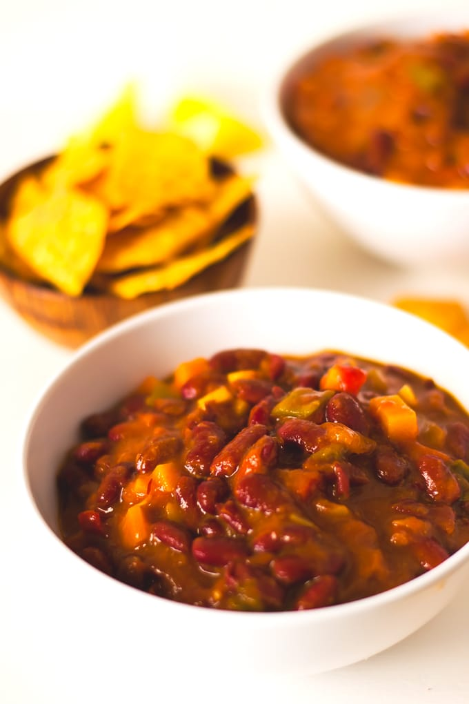 Red beans vegan chili 3 #vegan