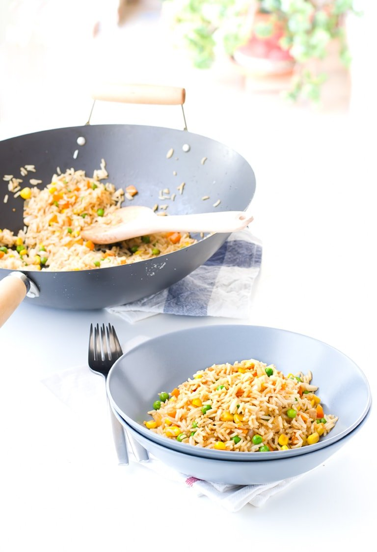 Vegan Fried Rice #vegan #rice #simpleveganblog