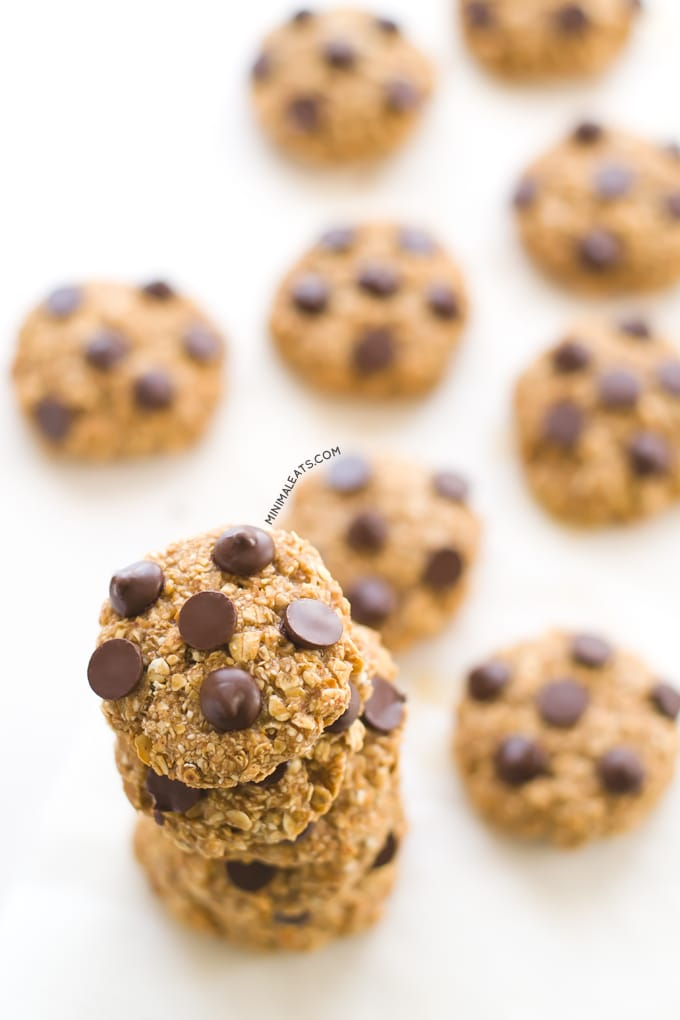 #Vegan #Glutenfree Chocolate Chip Oatmeal Cookies Recipe