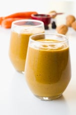 Creamy carrot smoothie