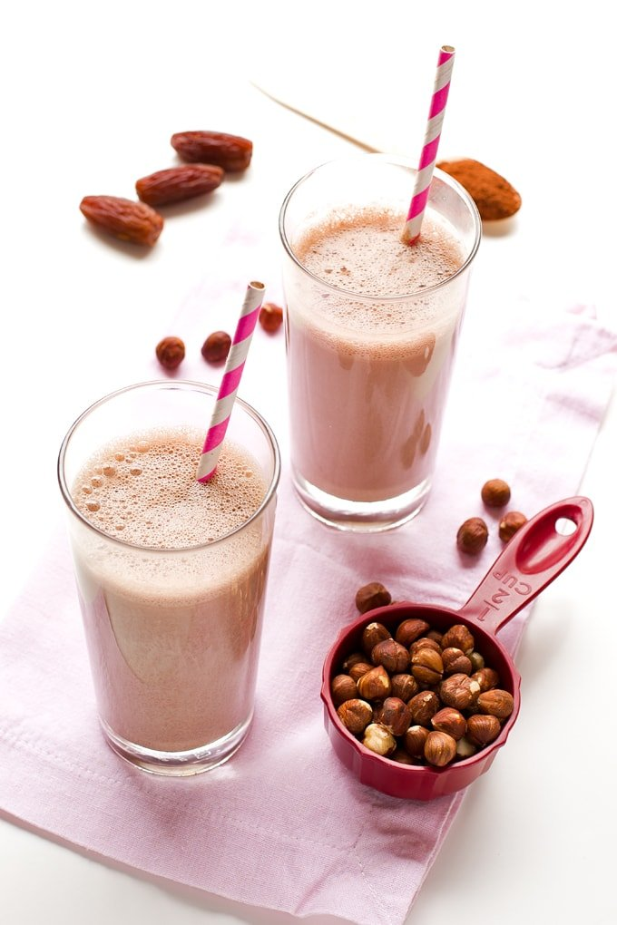 Hazelnut chocolate milk #vegan