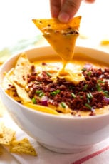 Vegan chorizo queso dip #vegan #chorizo #cheese