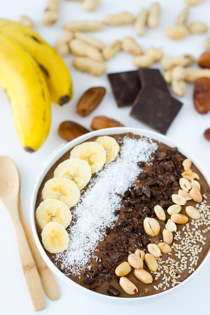 Chocolate Peanut Butter Smoothie Bowl Simple Vegan Blog