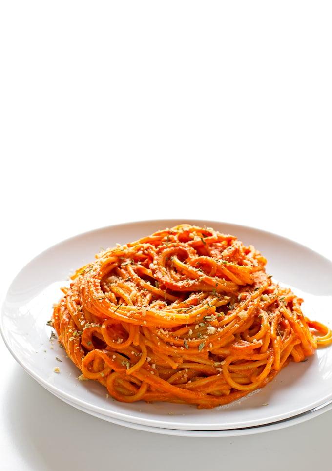 Simple Vegan Piquillo Pepper Pasta (GF)