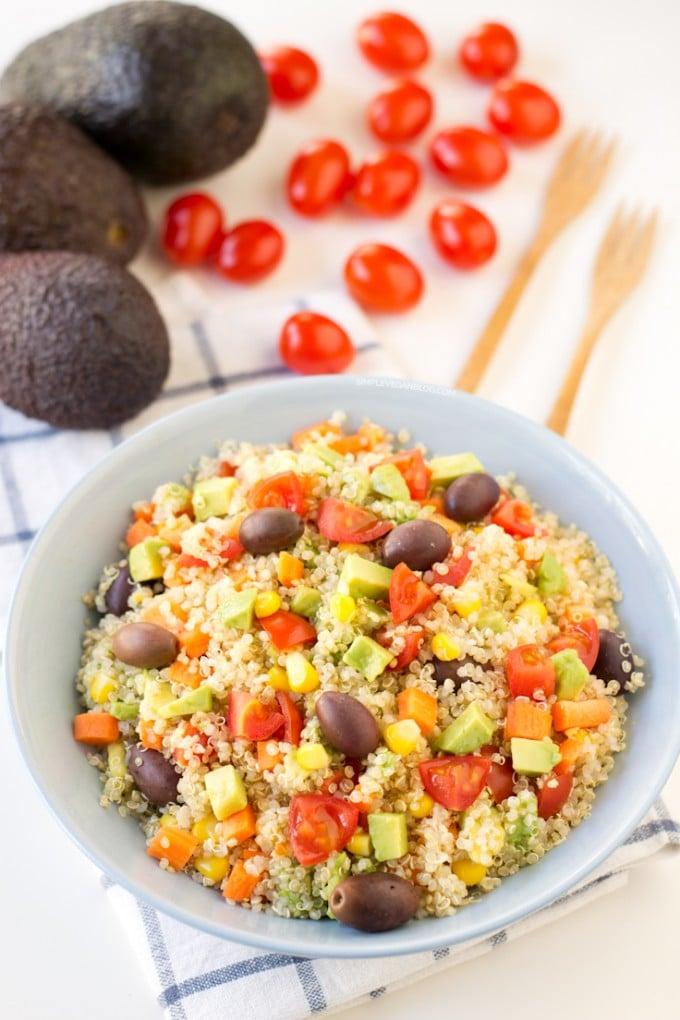 Simple Vegan Quinoa Salad