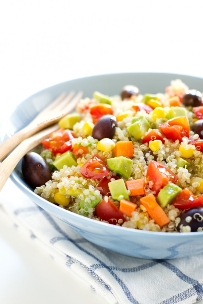 Simple Vegan Quinoa Salad