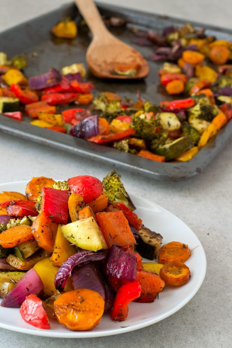 Oil free rainbow roasted vegetables simple vegan blog oil free rainbow roasted vegetables these oil free rainbow roasted vegetables are so delicious fandeluxe Image collections