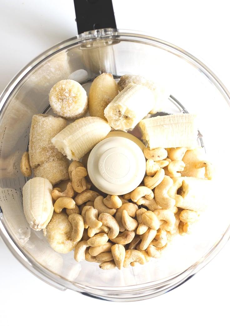 Raw Vegan Banana Pudding Ingredients