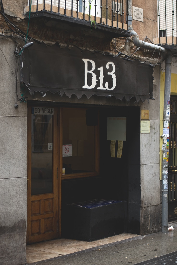 B13: Vegan Restaurant in Madrid (Spain)