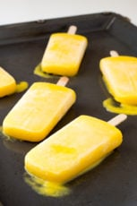 2-Ingredient Mango Coconut Popsicles