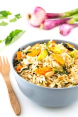 Brussels sprout fried rice | simpleveganblog.com #vegan #glutenfree