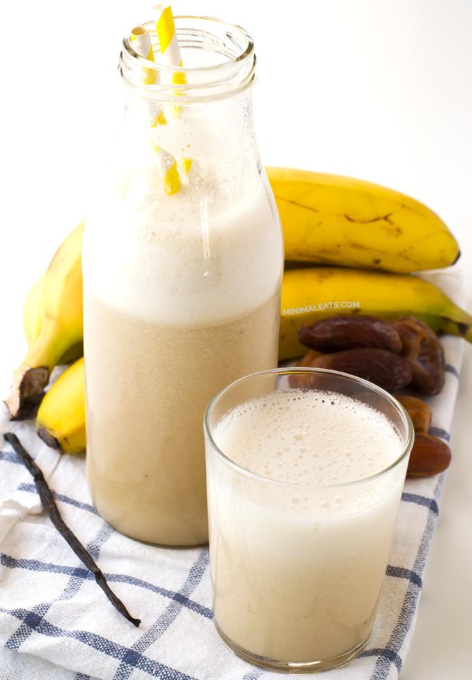 Banana Milk | minimaleats.com #minimaleats #vegan #recipe #glutenfree