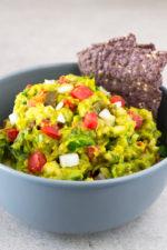 Guacamole rice salad recipe   simpleveganblog.com #vegan #glutenfree