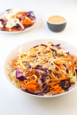 Vegan coleslaw recipe | simpleveganblog.com #vegan #salad #glutenfree #healthy