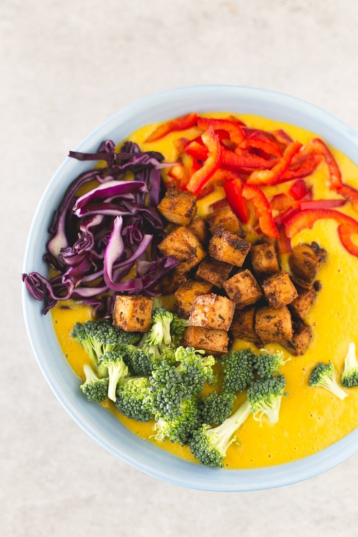 Vegan curry soup | simpleveganblog.com #vegan #healthy