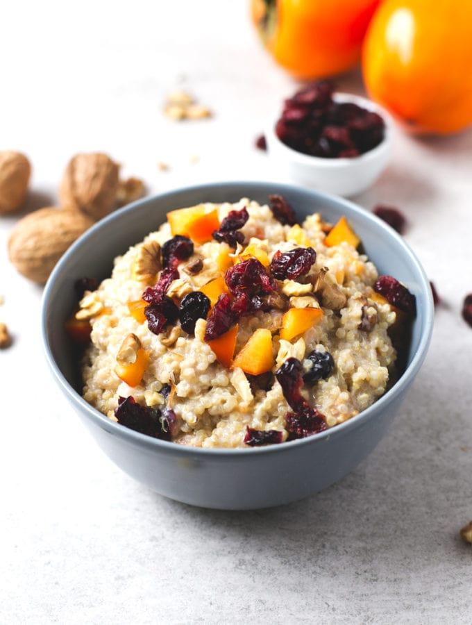 Vegan breakfast quinoa bowl recipe - If you love oatmeal, but you can ...