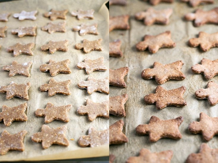 How to make vegan gluten free gingerbread men - To make healthy cookies is extremely easy and they taste so good you won't miss the unhealthy stuff. These gingerbread men are also gluten-free!