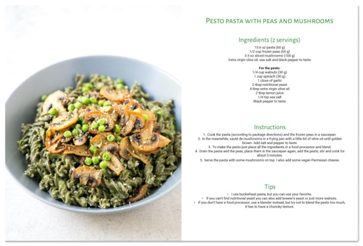Simple Vegan Meals eBook recipe example