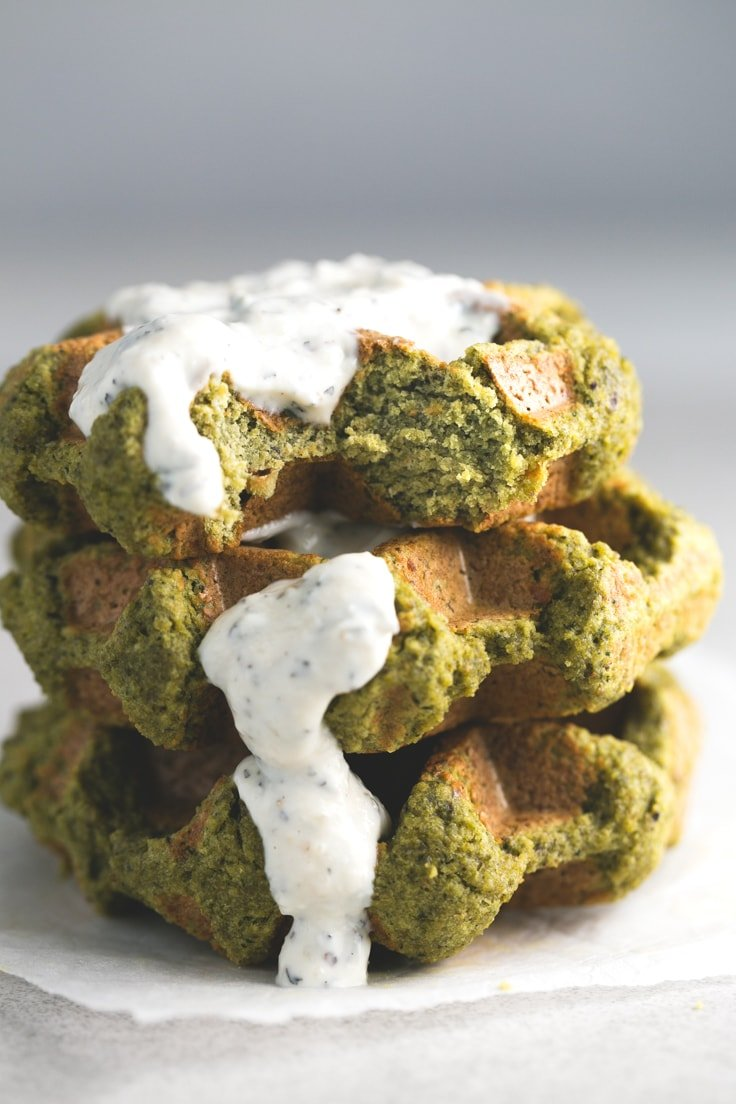 Falafel waffles - We make this falafel waffles all the time because they're ready in just 7 minutes, are low in fat, affordable and so delicious!