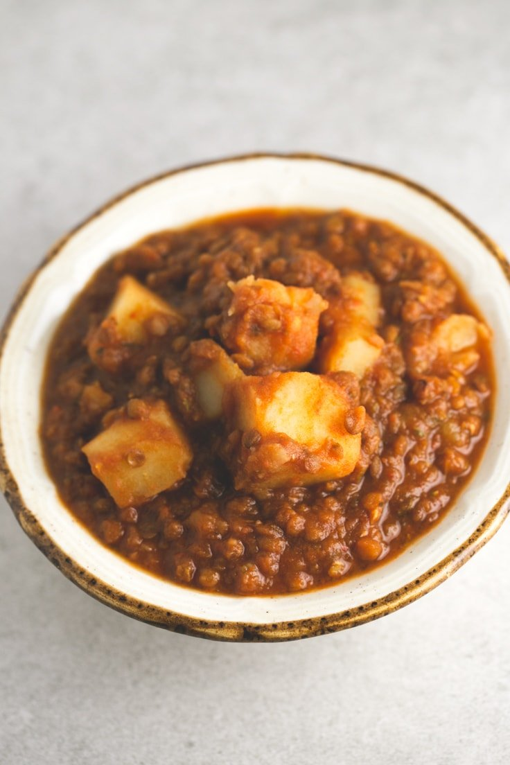 Fat free Spanish lentil stew - This fat free Spanish lentil stew is ...