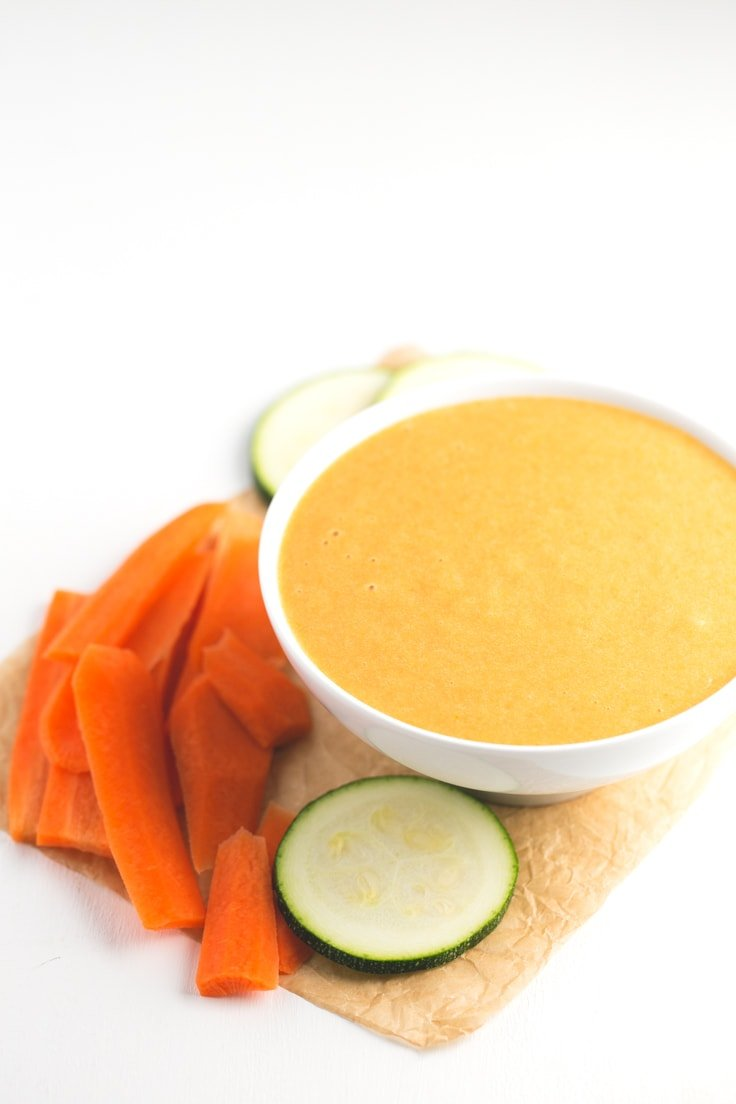 Fat free vegan cheese sauce - Everybody loves vegan cheeses, so we want to share with you this fat-free vegan cheese sauce, which is inspired in our popular vegan cheese recipe.