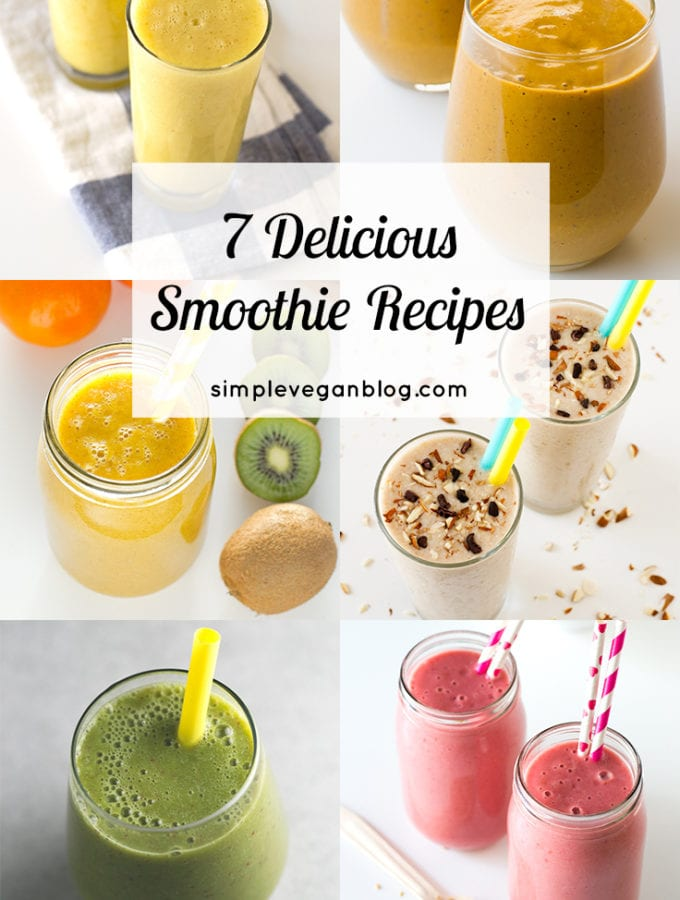 7 delicious smoothie recipes - These are our favorite smoothies on the blog. They're ready in 5 minutes, taste amazing and are so good for your health!