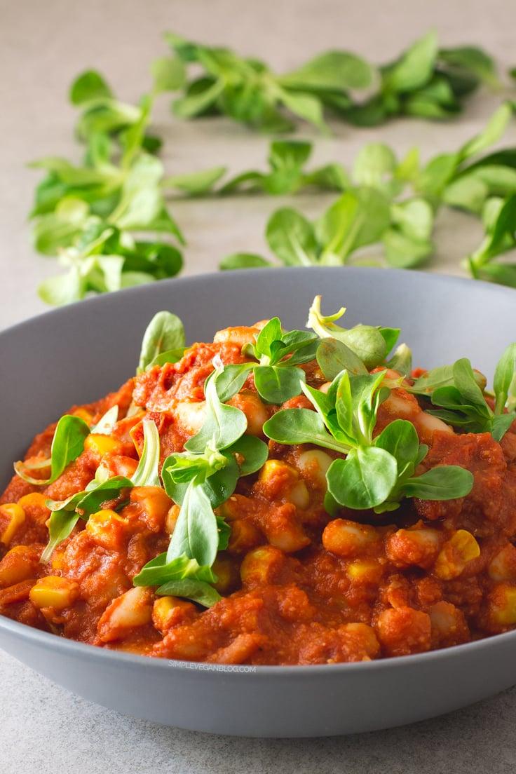 15 Minute Cannellini Bean Stew