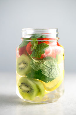 Refreshing infused water - It's so important to stay hydrated. If you don't like regular water, try to make fruit infused water, it's so refreshing and tastes amazing.