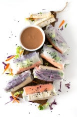Vietnamese Spring Rolls - We make these Vietnamese spring rolls every week because they're so healthy, refreshing and easy to make. Besides, it's a gluten and oil-free recipe.