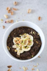 Brown rice breakfast porridge - This brown rice breakfast porridge is a delicious alternative to the traditional oatmeal or porridge. It's a super satisfying meal!