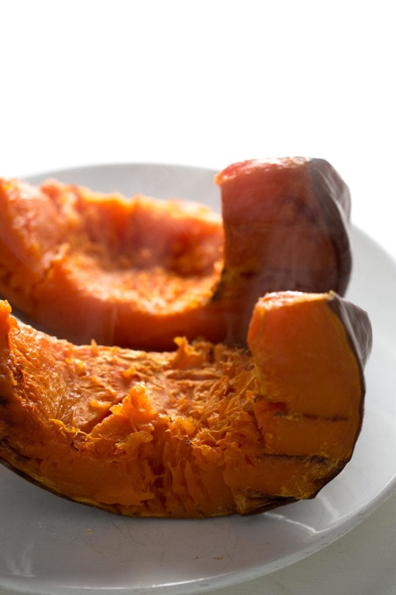 Homemade Pumpkin Puree. - It's really easy to make homemade pumpkin puree, you just need to roast the pumpkin and then puree it a food processor. One ingredient needed!