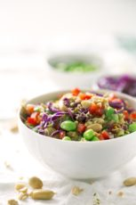 Quinoa Edamame Salad. - This quinoa edamame salad is so simple. You can use your favorite ingredients, dressings, depending on what you have in your kitchen.