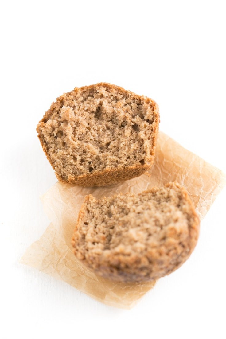 Low fat apple muffins (vegan + gf) - I've failed many times trying to make low fat baked recipes, that's why I'm so happy with these apple muffins. They taste amazing and are so soft and moist.