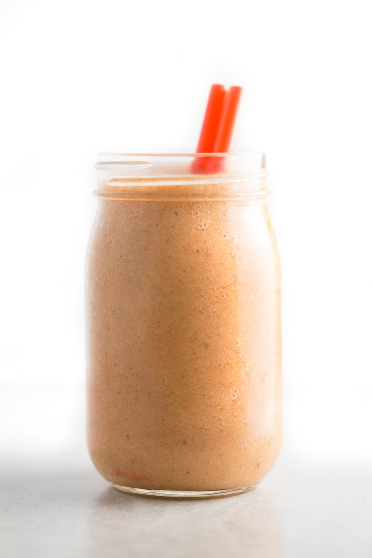 Strawberry orange pineapple smoothie - I have smoothies for breakfast almost every day because they improve my digestion so much. These strawberry, orange, pineapple smoothie is so delicious!