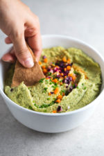 Vegan pesto hummus - This vegan pesto hummus is a delicious appetizer or spread. It's a super healthy and simple recipe and is really easy to make.