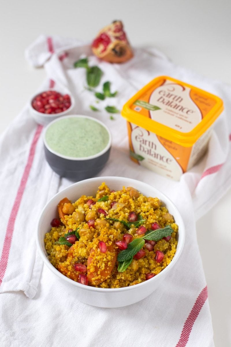 Festive Couscous. - It's really easy to make a vegan version of the traditional couscous using Earth Balance instead of real butter, you won't notice the difference!