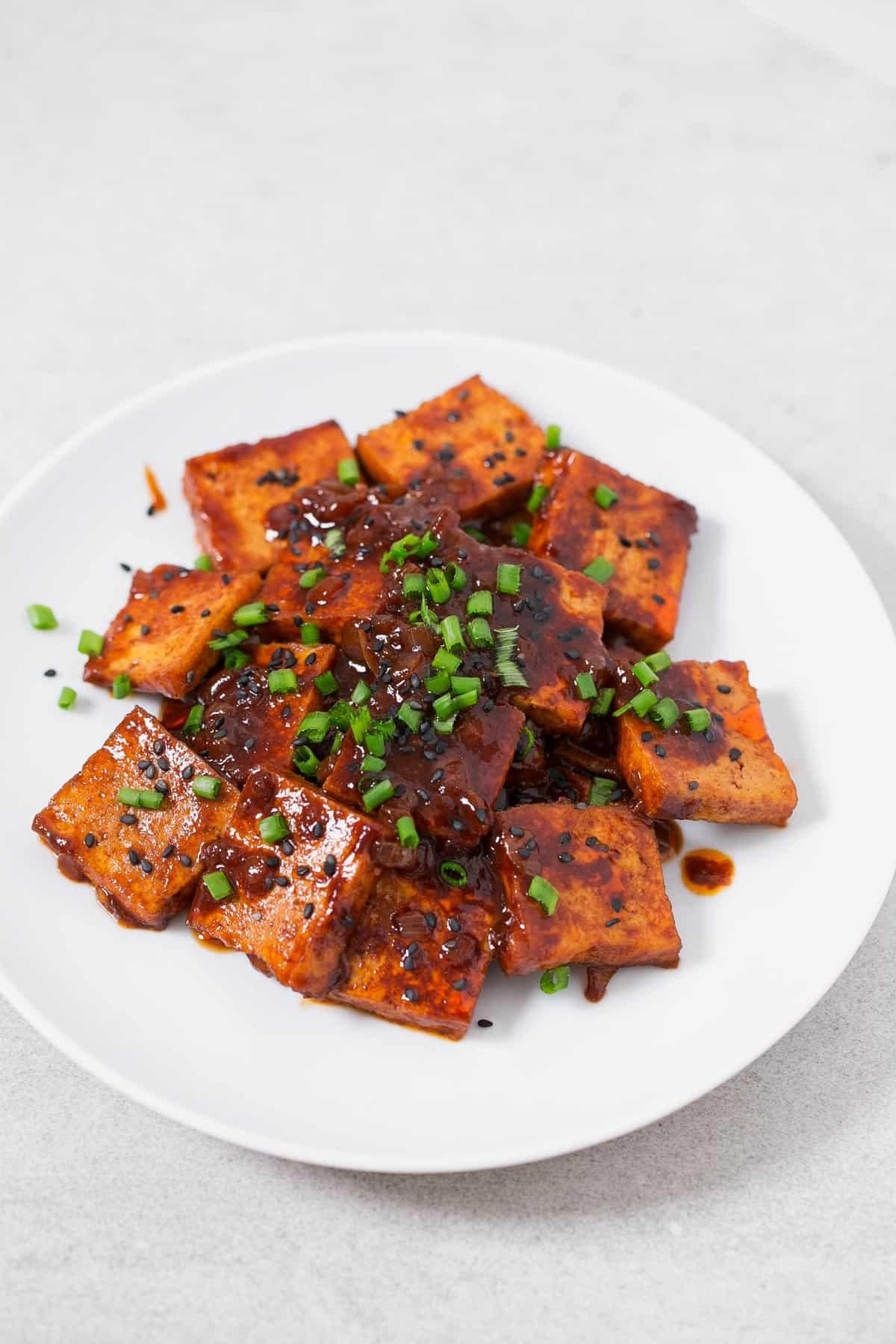 Korean Style Spicy Tofu Simple Vegan Blog