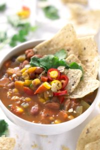 Simple Vegan Bean Soup. - This vegan bean soup is so easy to make. You just need to cook the veggies until golden brown, add the rest of the ingredients and cook for 10 minutes.
