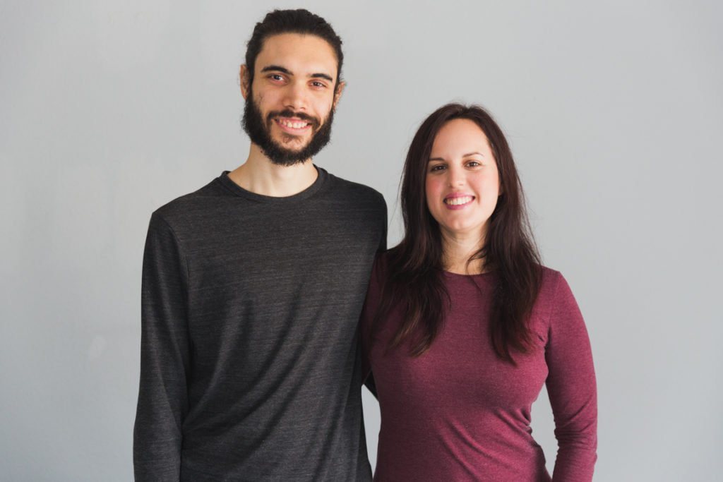 Portrait of Iosune and Alberto from Simple Vegan Blog