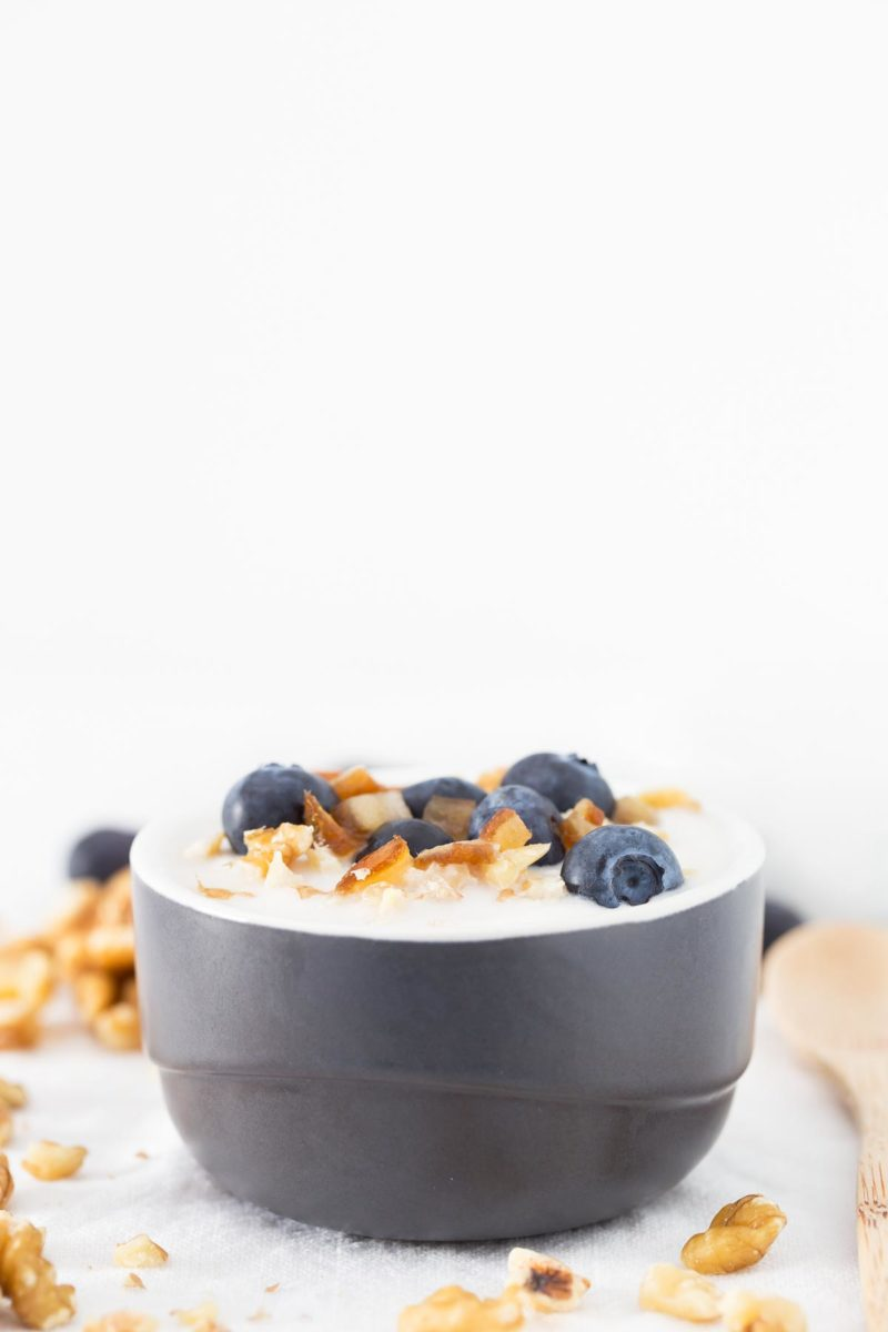 2-Ingredient Vegan Coconut Yogurt.- This is my all time favorite homemade vegan yogurt. Only 2 ingredients required! It's a super quick and easy recipe.