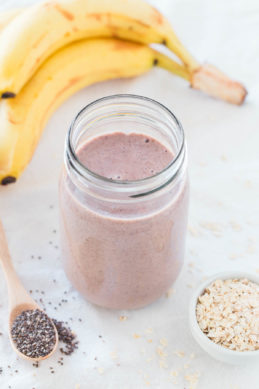 Vegan Protein Shake.- You need to give this homemade vegan protein shake a try. It's so delicious and you don't need any protein powder to make it, just whole plant based foods.
