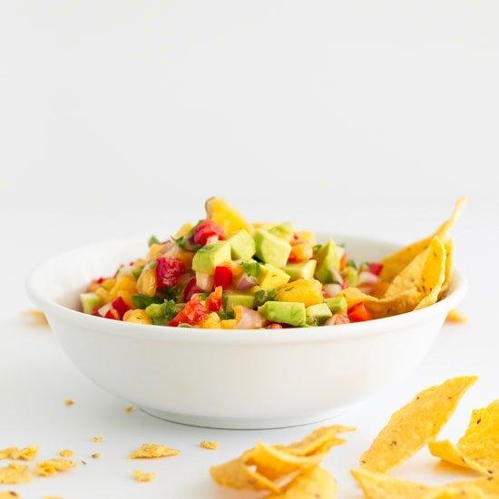 Mango Avocado Salsa. - This 9-ingredient mango avocado salsa is the perfect appetizer or snack, but also a great salad dressing or sauce to enjoy with any dish. #vegan #glutenfree #simpleveganblog