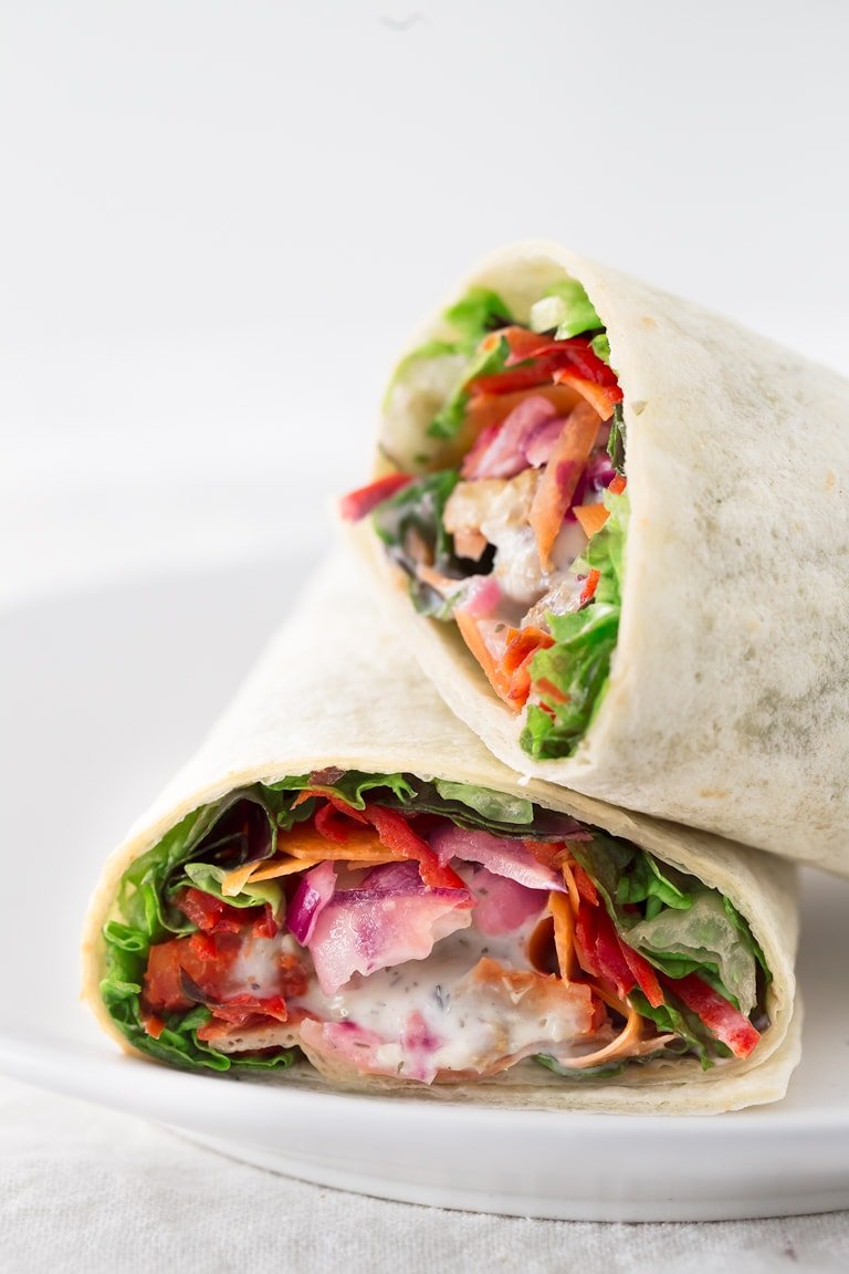 Marinated Tempeh Wraps.- These marinated tempeh wraps are so portable and convenient, perfect for a healthy and light lunch meal. You can eat them cold or hot.