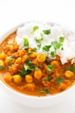 Simple Chana Masala. - Chana masala is an Indian dish made with chickpeas (chana) and garam masala. This 30-minute recipe is so simple, tasty and also oil-free.