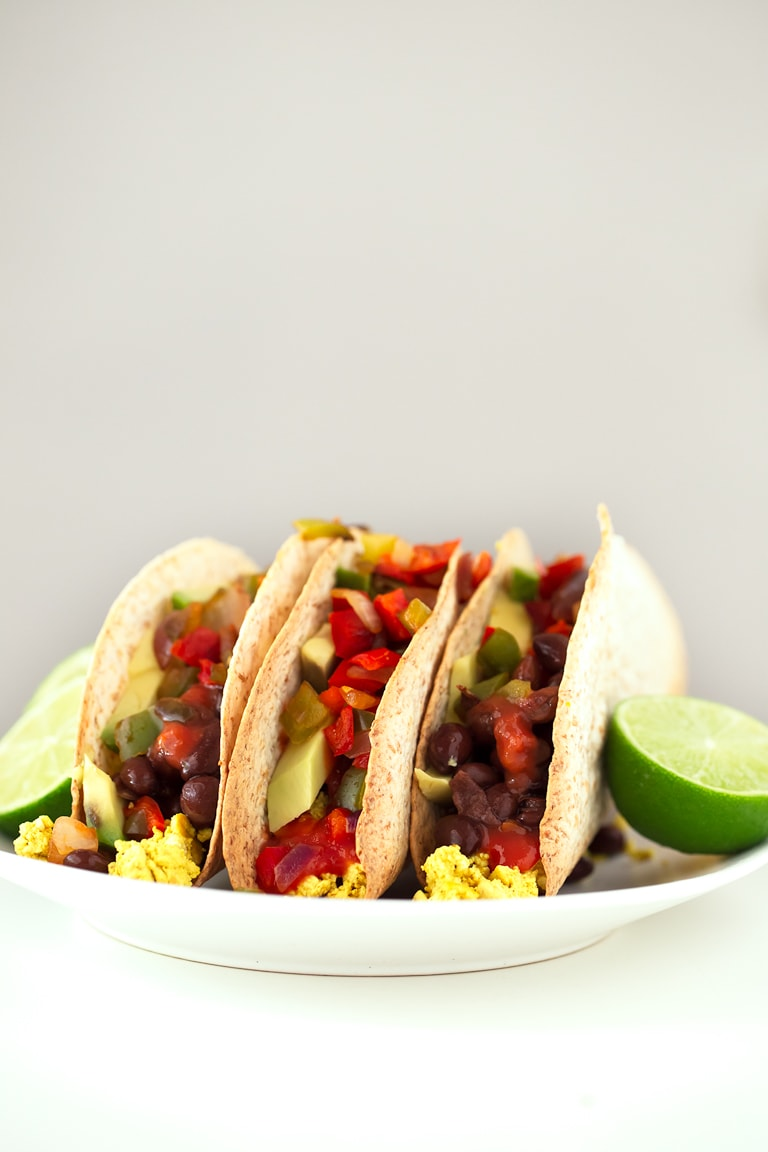 Vegan Breakfast Tacos. - These 30-minute vegan tacos are perfect for breakfast. You can also eat them for lunch or dinner, they're so delicious, healthy and satisfying.
