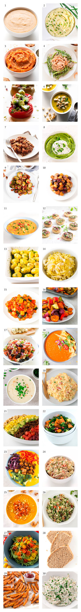Vegan Thanksgiving Sides - 100 delicious, easy, vegan, Thanksgiving recipes. We've included all kinds of recipes: appetizers & snacks, sides, mains, desserts and drinks.